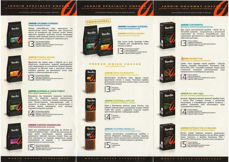 Кофе Jardin: этапы производства и ассортимент