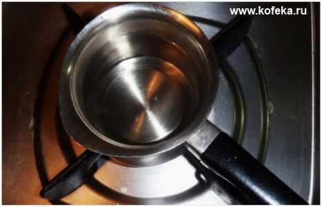 варим кофе в турке правильно - греем турку на огне