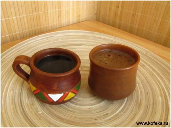 кофе со специями приготовленный в турке готов