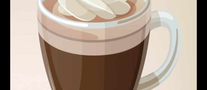Кофе со сливками, мармеладом и орешками