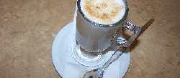 Кофе с желтком с пенкой